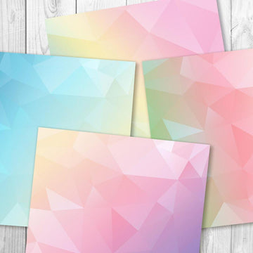 Pastel Rainbow Geometric Digital Paper