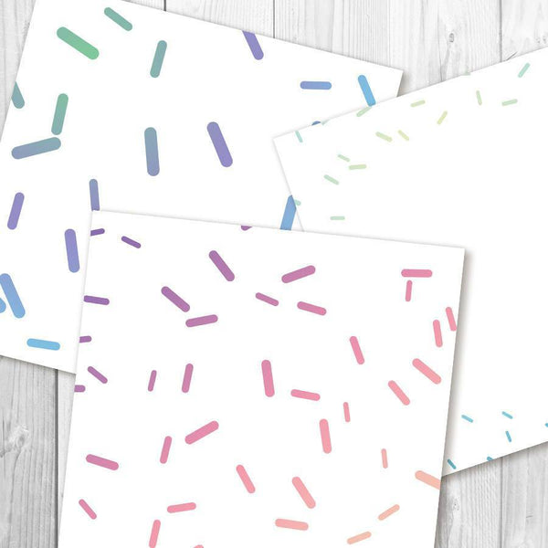 Pastel Sprinkles Digital Paper - The Digital Download Shop