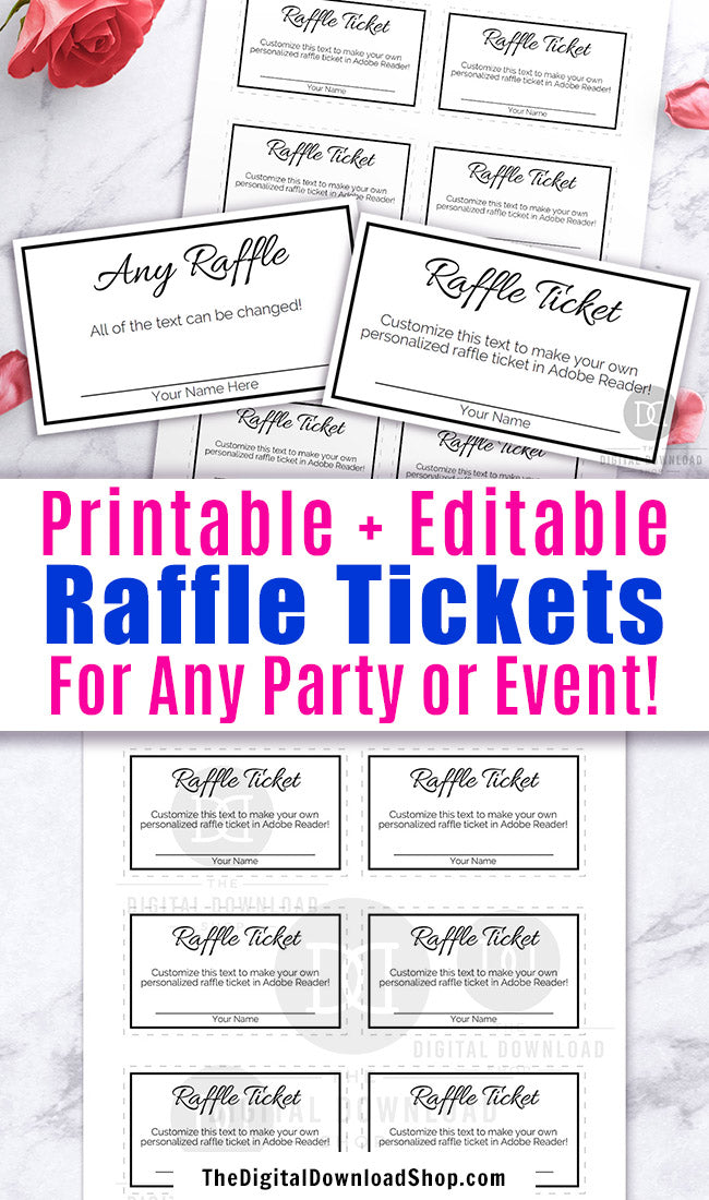 It's just a photo of Printable Raffle Tickets Template throughout pdf