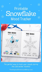 3 Bullet Journal Snowflake Mood Trackers- This fun snowflake mood tracker is the perfect way to track your moods during the cold winter months! | #bulletJournal #moodTracker #bujo #bulletJournalIdeas #DigitalDownloadShop