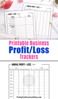 Use these profit and loss template printables to keep track of your business profits, your business income, and keep track of where most of your business expenses are coming from.