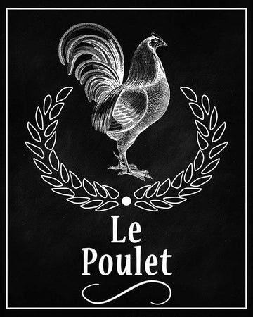 Rooster Le Poulet Chalkboard Printable Wall Art
