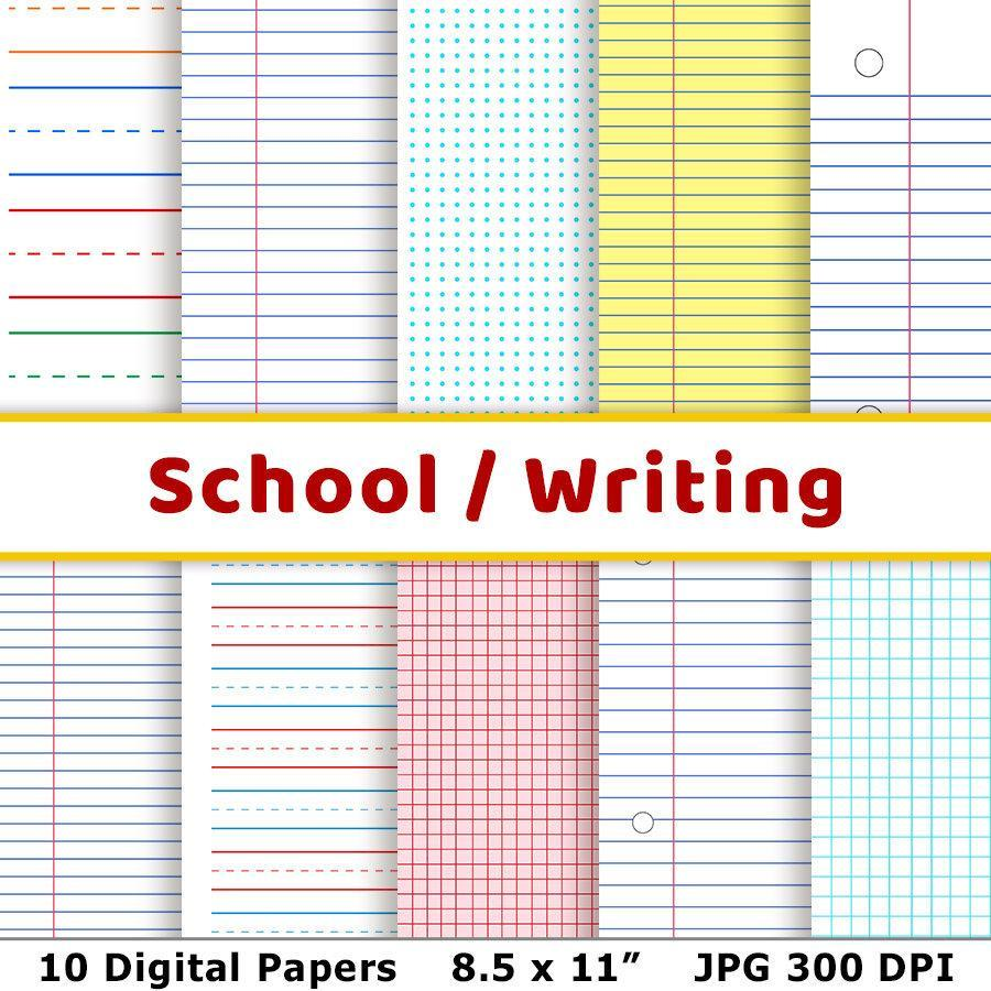 School Digital Papers - The Digital Download Shop