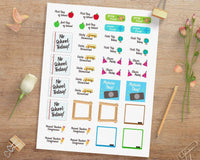School Year Printable Planner Stickers - The Digital Download Shop