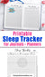 Sleep Tracker Bullet Journal Printable- Use this 31 day sleep pattern planner printable to make a sleep log and track your sleeping habits! | #insomnia #bulletJournal #planner #DigitalDownloadShop