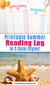 Summer Reading Log Printable
