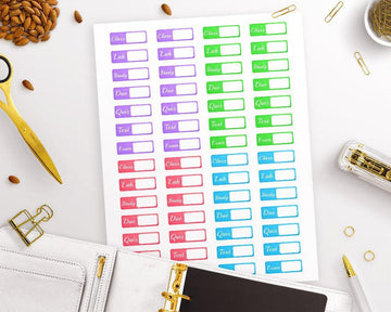 Tab Student Printable Planner Stickers