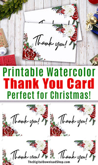 image about Christmas Thank You Notes Printable called Printable Thank Yourself Card- Family vacation Florals