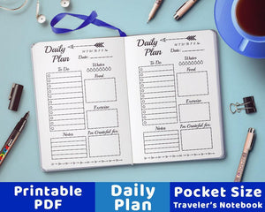 traveler s notebook pocket size undated daily planner inserts the