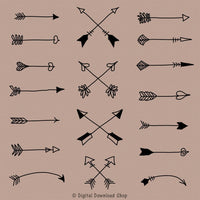 Tribal Arrow Clipart - The Digital Download Shop