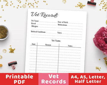 Vet Records Printable