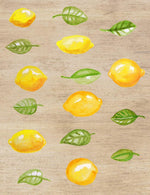 Watercolor Lemons Clipart - The Digital Download Shop