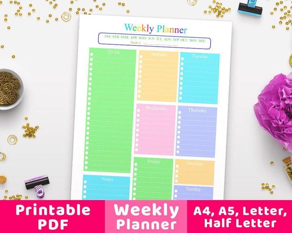 Weekly Planner Printable - The Digital Download Shop