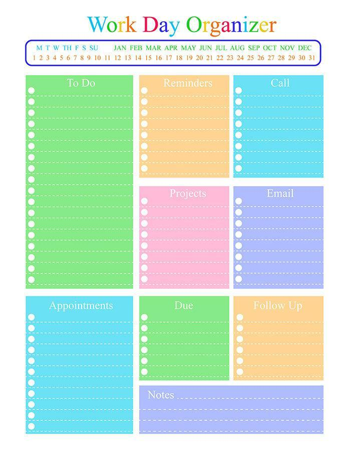 Galerry printable pocket planner inserts