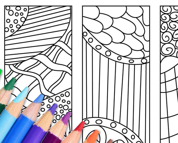 Zendoodle Coloring Page Bookmark Printables - The Digital Download Shop