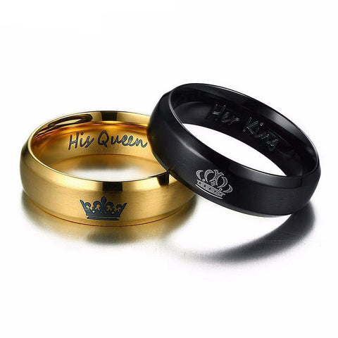 His Queen Her King Rings G/B