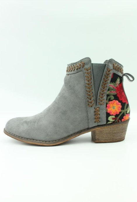 Embroidered Bootie