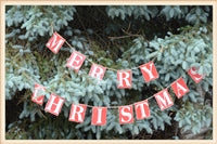 Merry Christmas Wood Strung sign