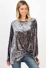 Front Twist Detail Long Sleeve Top