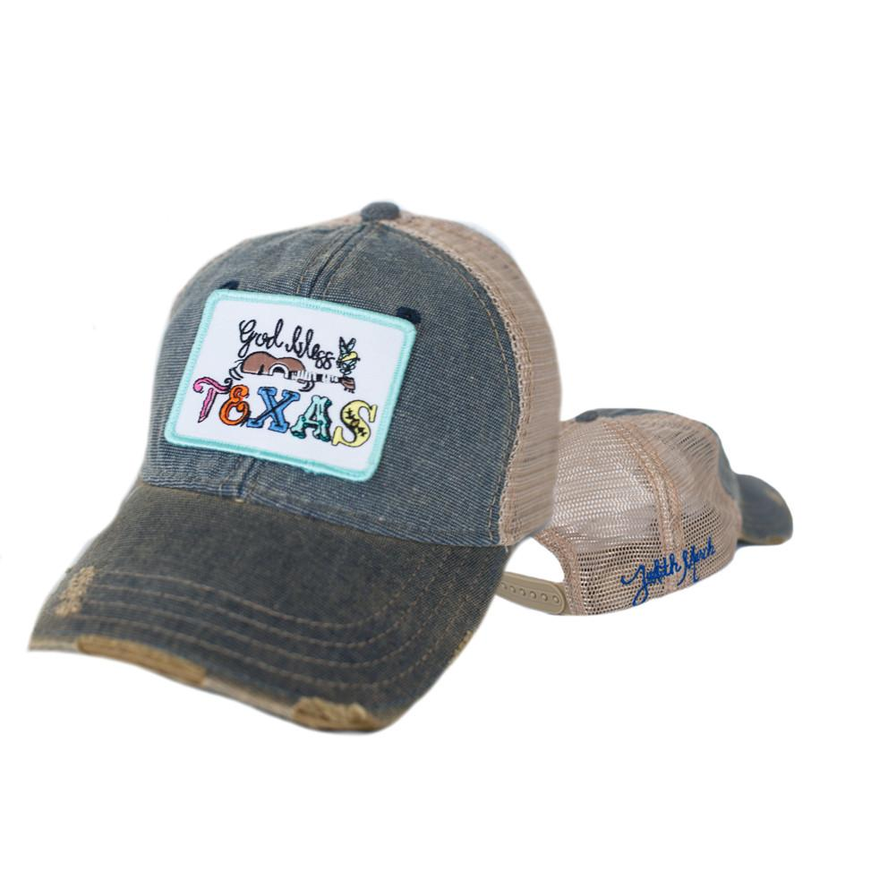 God Bless Texas Patch-Blue