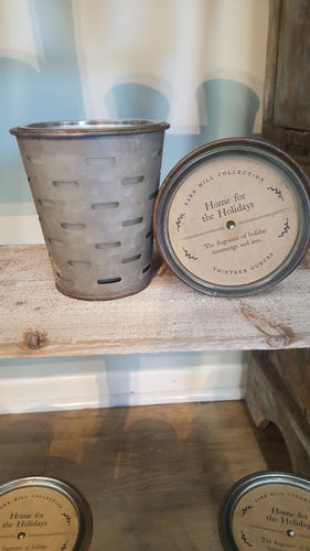 Home For The Holidays Olive Bucket Fragrance Candle