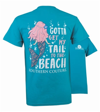 MY TAIL TO THE BEACH - TROPICAL BLUE