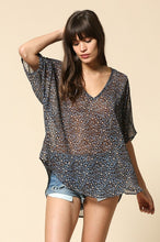Leopard chiffion top