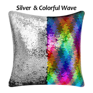 Custom mermaid sequins pillow with insert