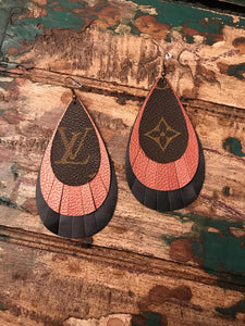 LV Fringe Earrings