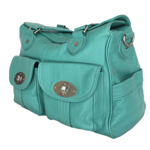 The Tomboy Bespoke Genuine Leather Camera Bag in AQUA