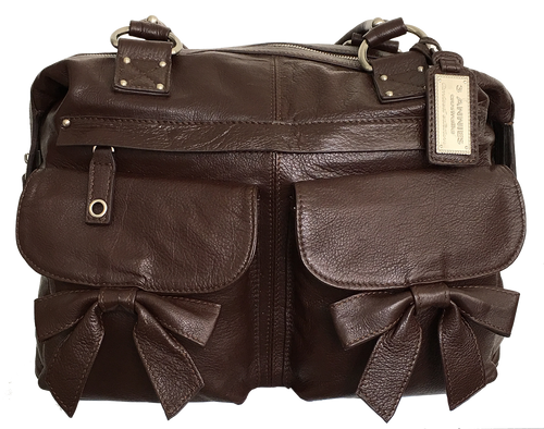 The Madison Espresso Brown Leather Camera Bag