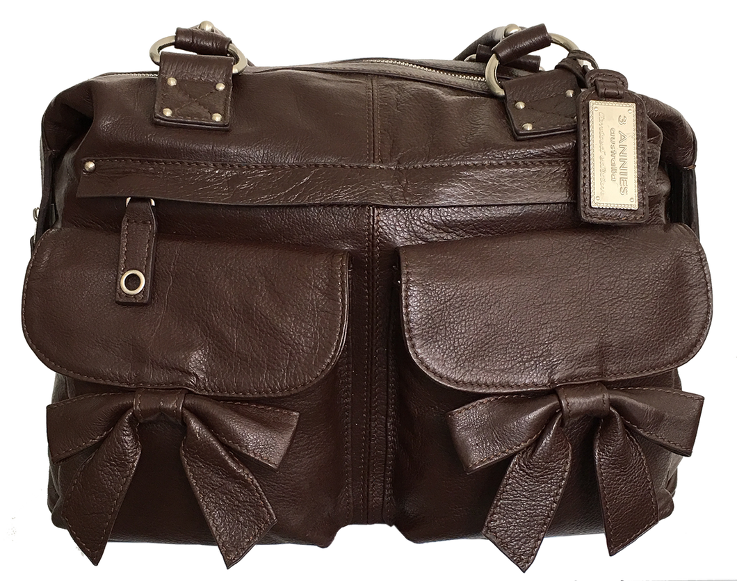 Madison Brown Leather Camera Bag - SALE 50% OFF