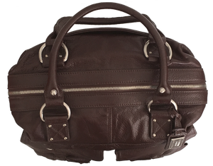 Madison Espresso Brown Leather Camera Bag XMAS SALE 50% OFF