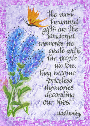 the most treasured gifts blue flowers