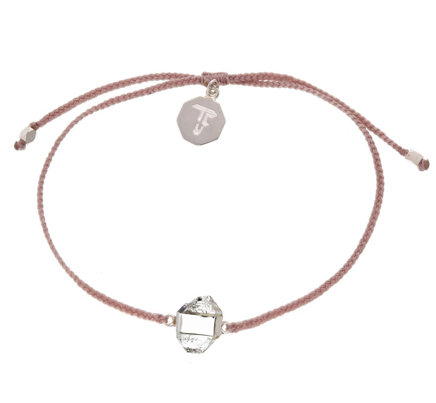 Diamond Quartz Crystal Blessing Bracelet