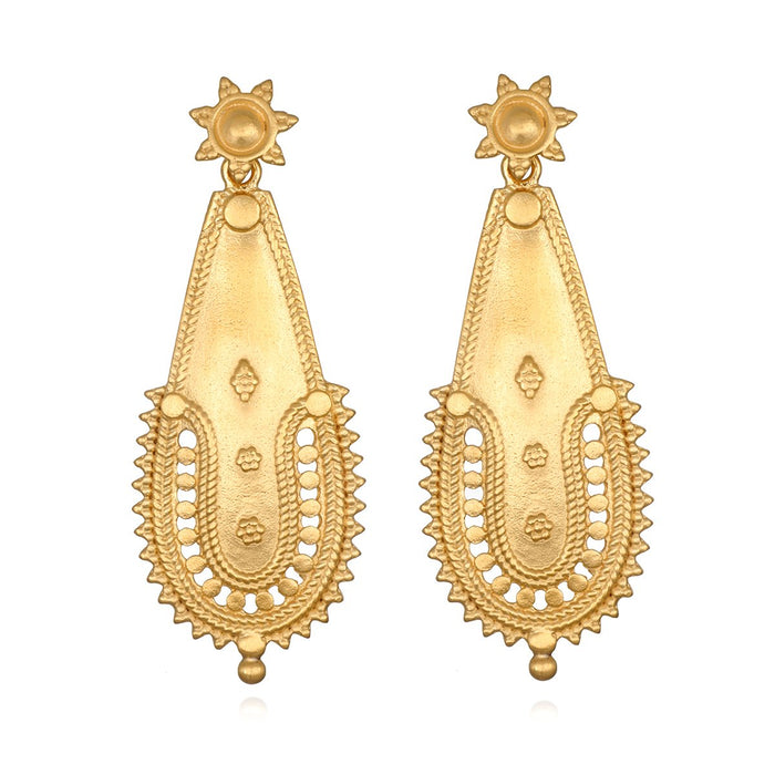 Classic Elegance Gold Earrings