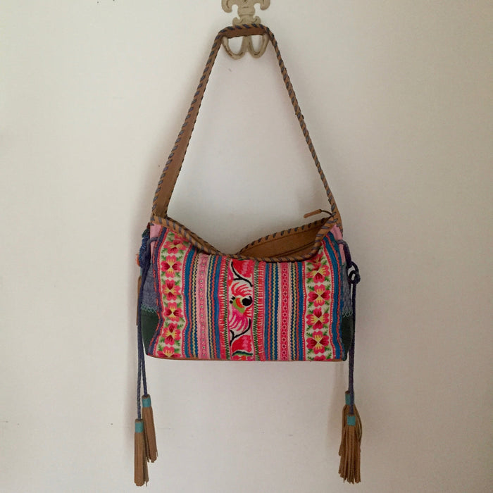 Leather Hand Embroidered Bag