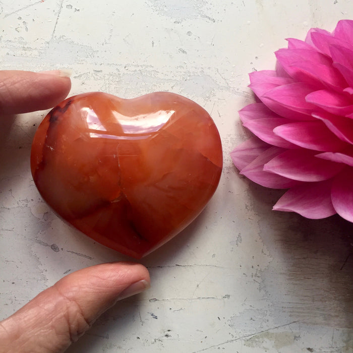 Carnelian Love Heart - Large