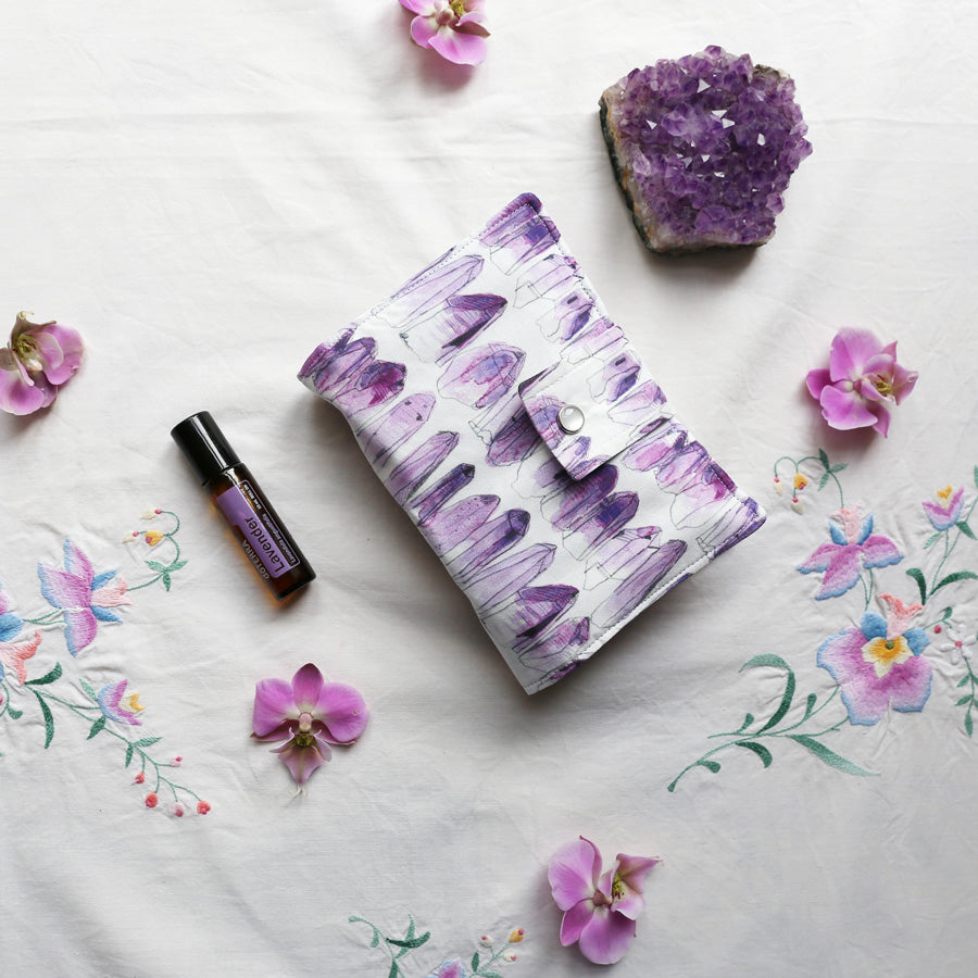 Essential Oil Roller Bottle Bag - Amethyst closed