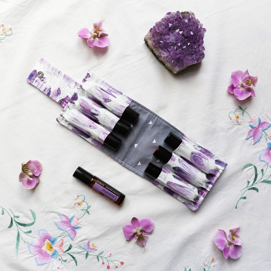 Essential Oil Roller Bottle Bag - Amethyst 6