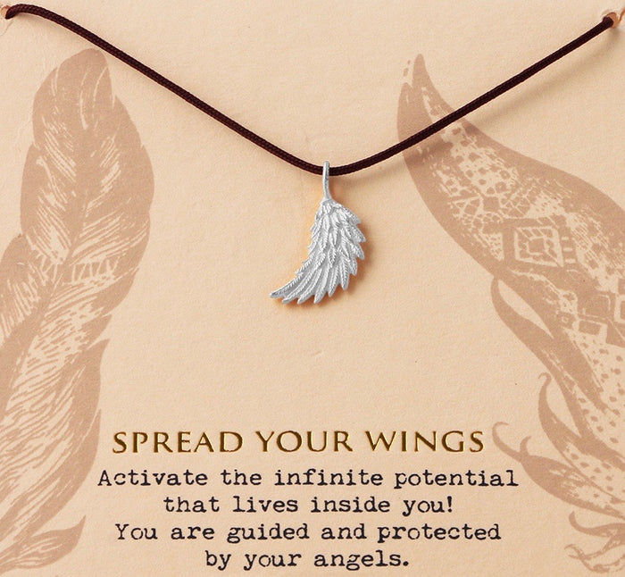 Spread Your Wings Necklace - Silver