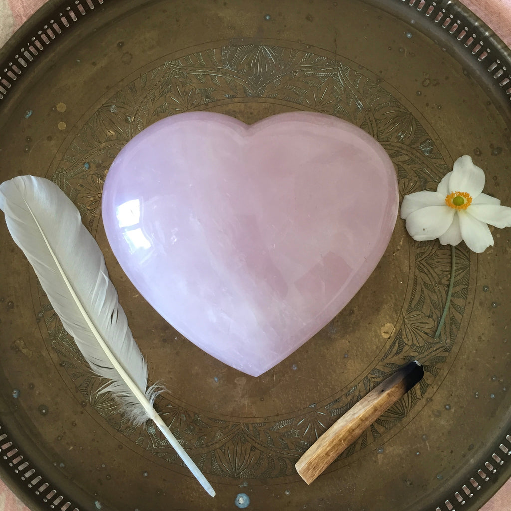 Rose Quartz Love Heart - Super Large!