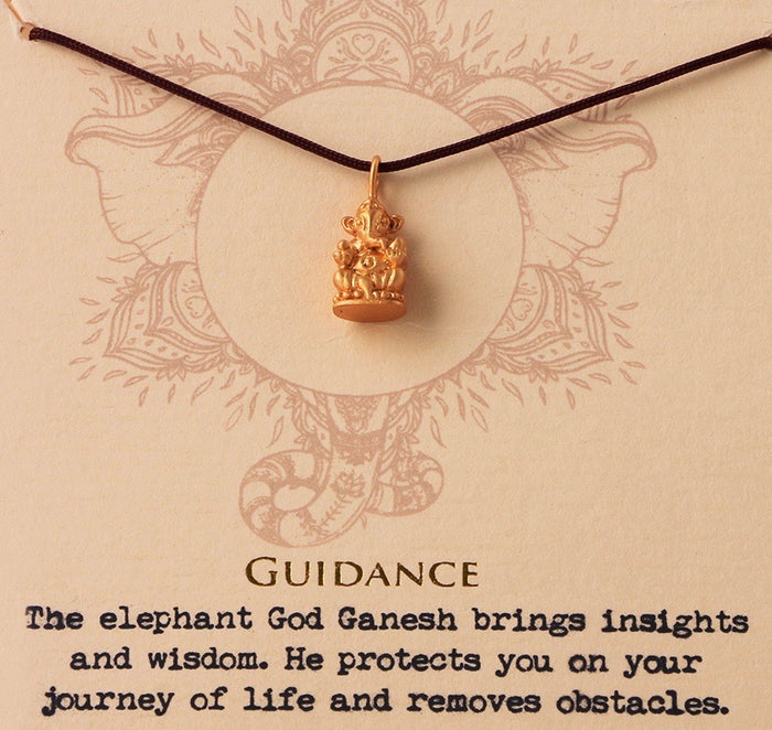Guidance Ganesh Necklace - Gold