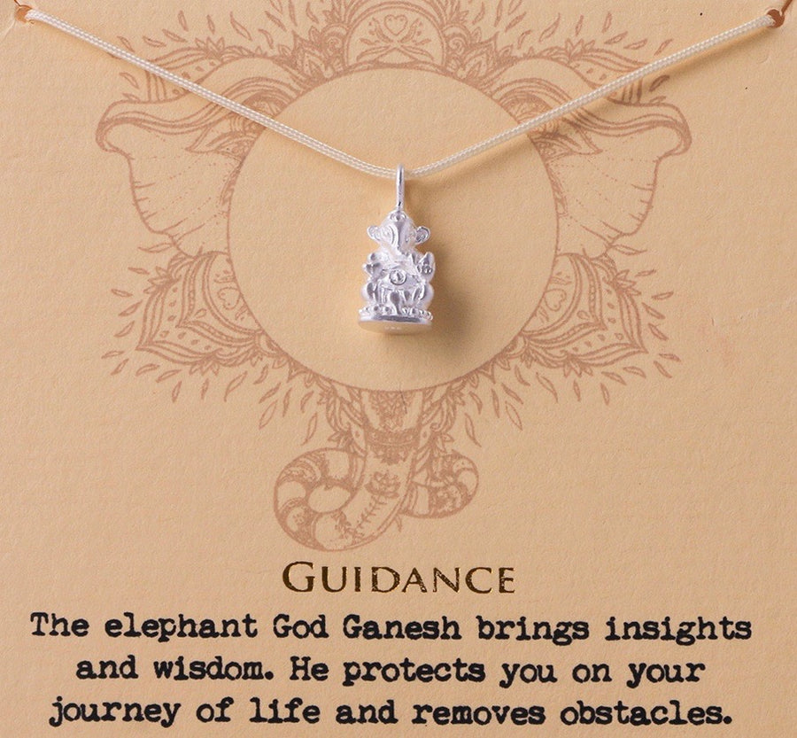 Guidance Ganesh Necklace - Silver