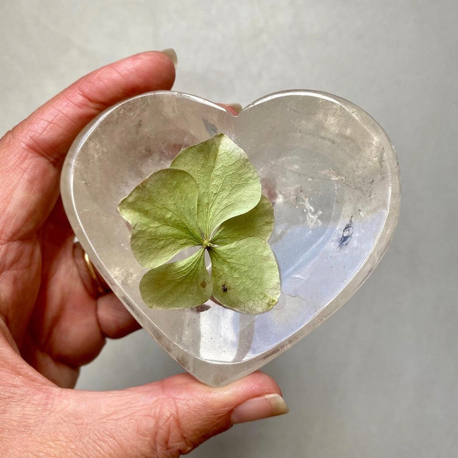 Clear Quartz Heart Offering Bowl