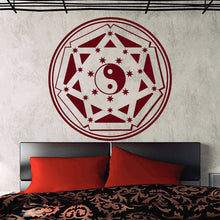 Buddha Yin Yang Floral Home Decal