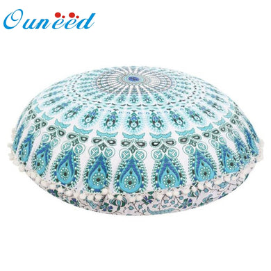 Ouneed Large Mandala Floor Pillows Round Bohemian Meditation Cushion Cover Ottoman Pouf u7104
