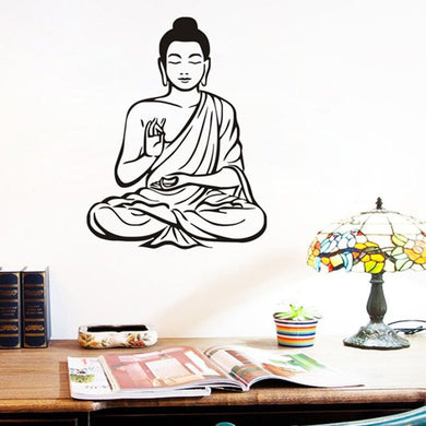 Meditating Buddha Art Wall Stickers