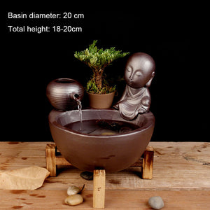 Ceramics Mini Water Fountains for Living Room Feng Shui