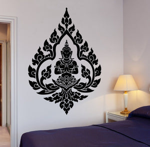 Indian Zen Meditation Vinyl Wall Decals